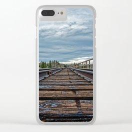 Cloud Galaxy Clear iPhone Case