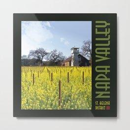 Water Tower & Mustard - Napa Valley III Metal Print