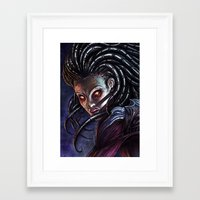 starcraft Framed Art Prints featuring Queen of Blades by Denda Reloaded
