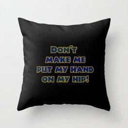 Funny One-Liner Body Language Joke Throw Pillow