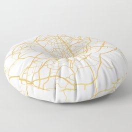 MADRID SPAIN CITY STREET MAP ART Floor Pillow