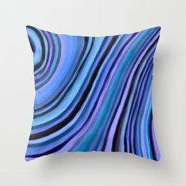 Mineralicious~Blue Agate Throw Pillow