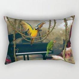 Funny parrots Rectangular Pillow