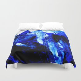Dancing In Blue No. 1 by Kathy Morton Stanion Duvet Cover