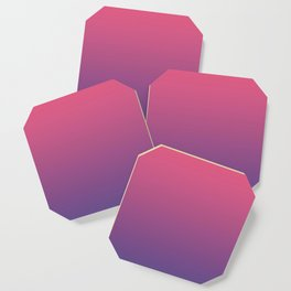 Bright Pink Ultra Violet Gradient | Pantone Color of the year 2018 Coaster