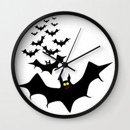 Isolated Bats Wall Clock