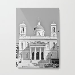 Church in Piraeus BW Metal Print