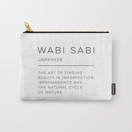 Wabi Sabi Definition Carry-All Pouch