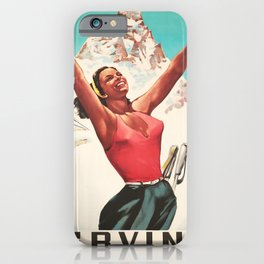 retro Cervina old psoter iPhone Case