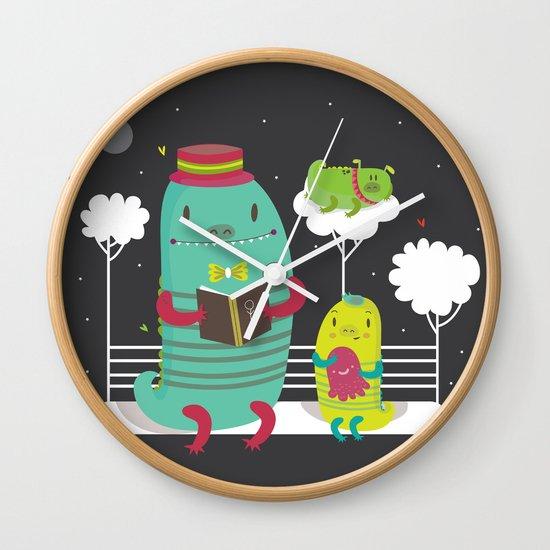Dino family Wall Clock