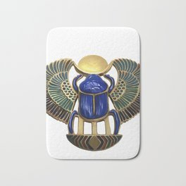 Painted Egyptian Necklace Bath Mat