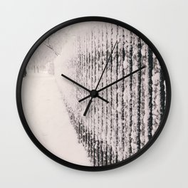 Snowy Wall Wall Clock