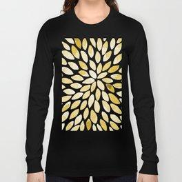 Watercolor brush strokes - yellow Long Sleeve T-shirt