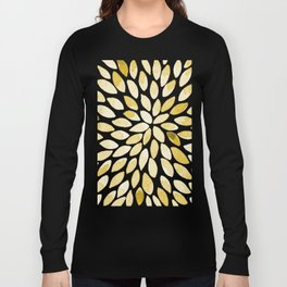 Watercolor brush strokes - yellow Long Sleeve T-shirt