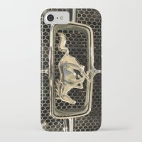 mustang iPhone & iPod Cases featuring Mustang  by Dragons Laire