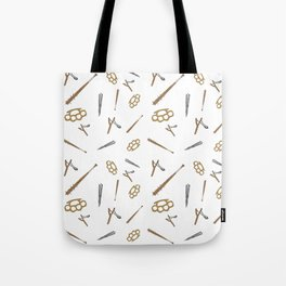 Weapons Pattern Tote Bag