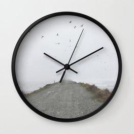Foggy Beach Path Wall Clock