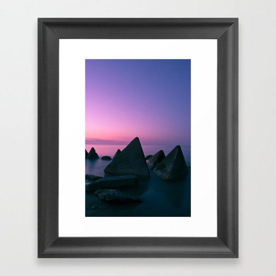 Ocean's Teeth Framed Art Print