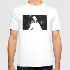 Mary Watches from the Heavens Mens Fitted Tee White SMALL