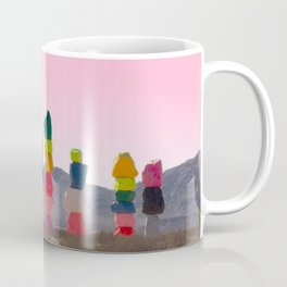 Seven Magic Mountains with Pink Sky - Las Vegas Coffee Mug