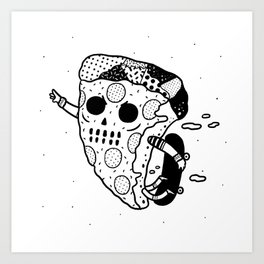 Pepperoni grab Art Print