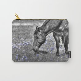 Horse & Bluebonnets Carry-All Pouch