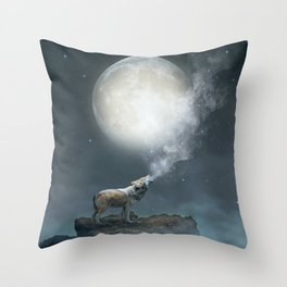 The Light of Starry Dreams Throw Pillow