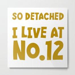 So Detached I Live At Number Twelve Metal Print