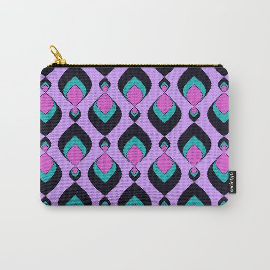 Pattern retro in pink , turquoise raspberry tones . Carry-All Pouch