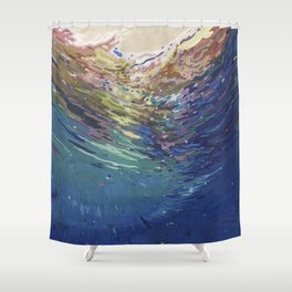 Emerging from a deep dive Shower Curtain