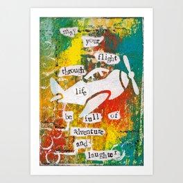 FLIGHT OF LIFE Art Print