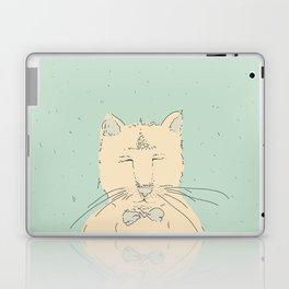 Cartoon cute cat think Laptop & iPad Skin