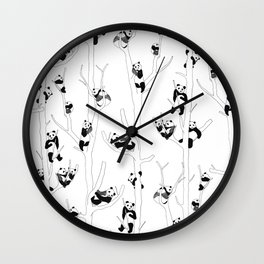 Panda Forest Wall Clock