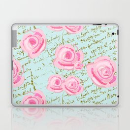Pink  Roes and French Script Laptop & iPad Skin