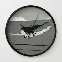 Swimming in the Stormy Sea (Seestück) Wall Clock