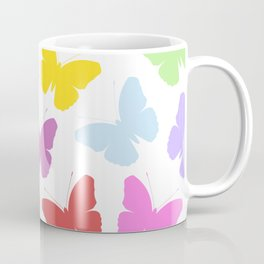 Multicoloured Butterflies Pattern Coffee Mug