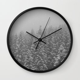 Snow Wall Clock