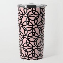 Olympica Black on Blush Travel Mug