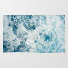 Rough Sea - Ocean Photography Rug