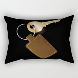 Leather Key Fob With Key Rectangular Pillow