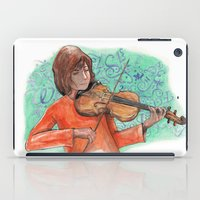 violin iPad Cases featuring Violin by besign79