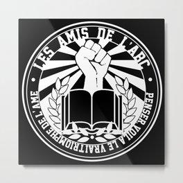 Les Amis de l'ABC frat. logo WHITE Metal Print