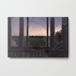 Ohio Cornfield from the Abandoned Country Home Metal Print