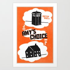 Amy's Choice (7 in a series of 13) Art Print