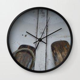 Wooden Oars Wall Clock