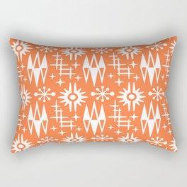 Mid Century Modern Atomic Space Age Pattern Orange Rectangular Pillow