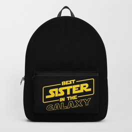 Funny Best Sister Ever In The Galaxy Sci-Fi Space T-Shirt Backpack