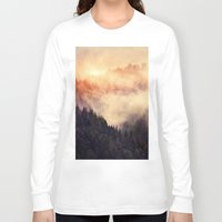 wolves Long Sleeve T-shirts featuring In My Other World by Tordis Kayma