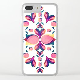 Tulip Pattern Clear iPhone Case