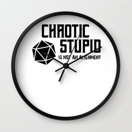 RPG Gamer Chaotic Stupid Alignment Gift Wall Clock